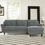 Henley Roll-Arm Upholstered Sectional