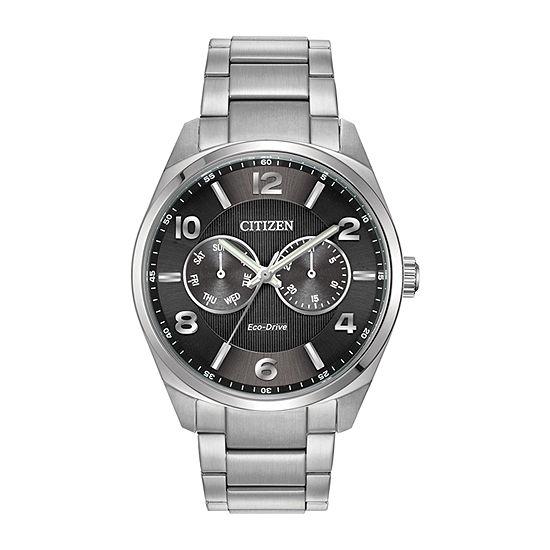 Citizen Corso Mens Silver Tone Stainless Steel Bracelet Watch-Ao9020-84e