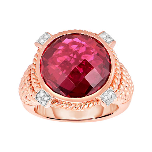 Glass-Filled Ruby Ring