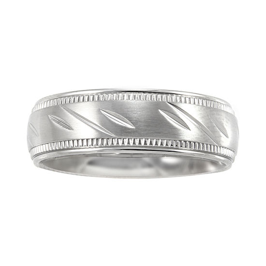 Mens 7mm Comfort Fit Stainless Steel Wedding Band