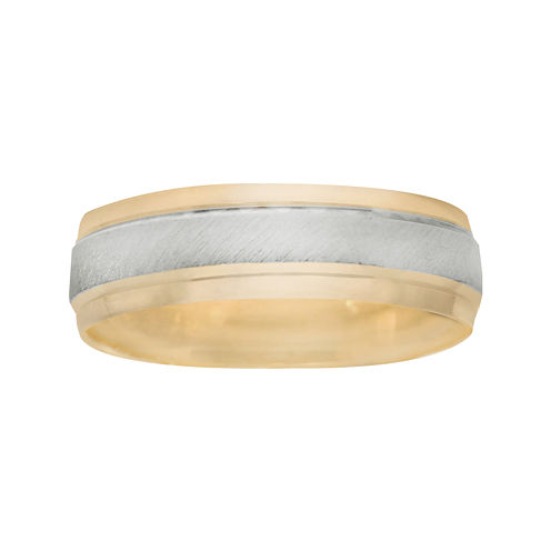 Men's 6mm Two-Tone Gold Wedding Band