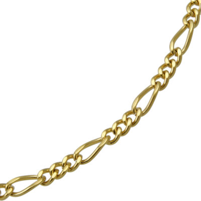 Mens Two-Tone Stainless Steel Figaro Chain