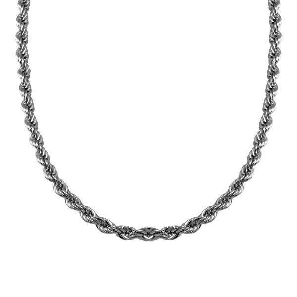 Mens Stainless Steel Rope Chain