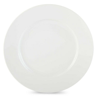 JCPenney Home™ Porcelain Whiteware Set of 4 Round Dinner Plates