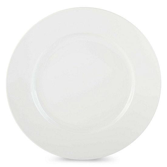 JCPenney Home™ Porcelain Whiteware Set of 4 Round Dinner Plates