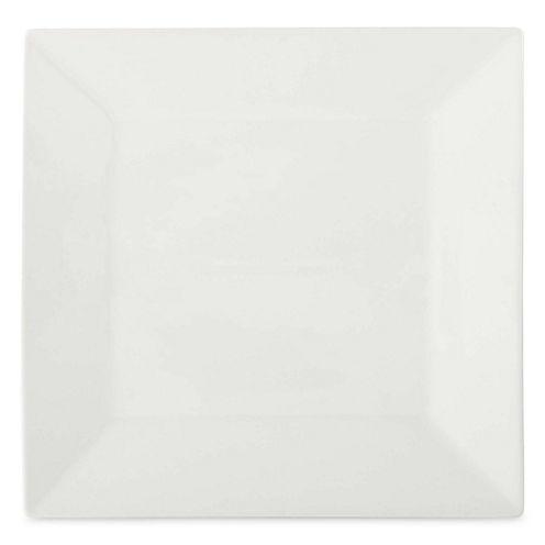JCPenney Home™ Porcelain Whiteware Set of 4 Square Dinner Plates
