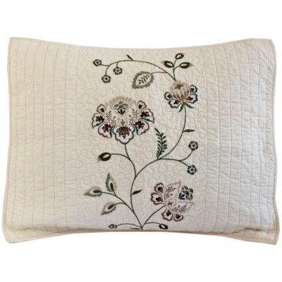 Nostalgia Flowering Vine Standard Pillow Sham