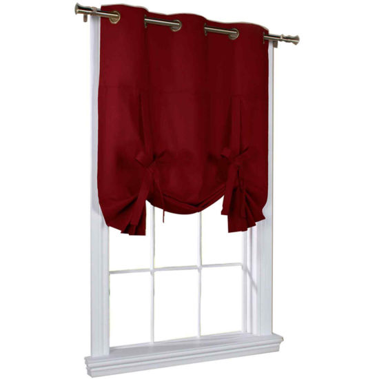 Weathermate Room-Darkening Grommet-Top Tie-Up Curtain Panel