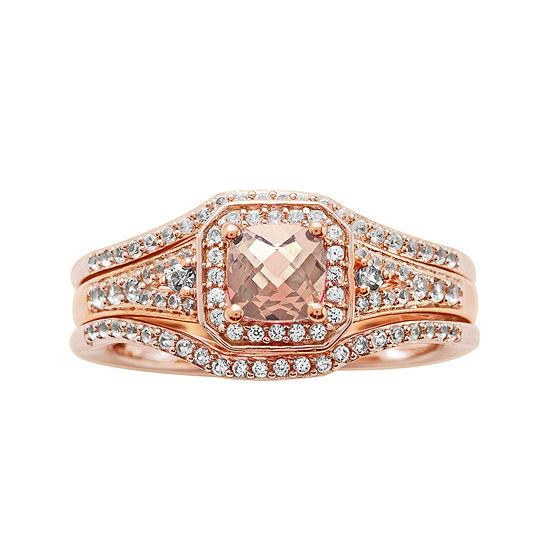 1 1/4 CT. T.W. Diamond and Genuine Pink Morganite 10K Rose Gold Ring