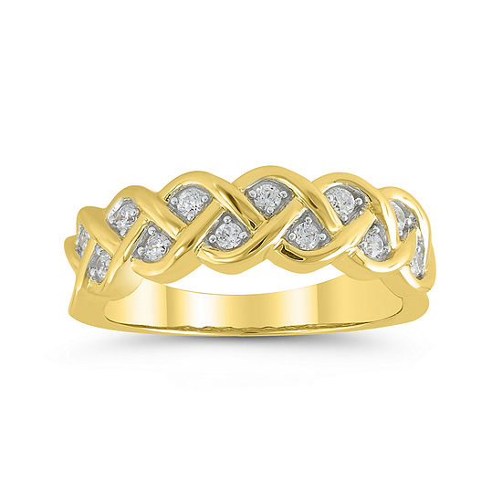 1/4 CT. T.W. Diamond 10K Yellow Gold Pavé Ring