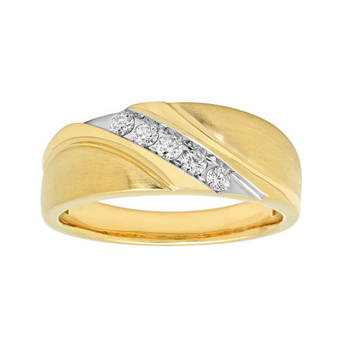 Mens 1/4 CT. T.W. Diamond 10K Yellow Gold Ring