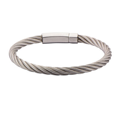 Mens Stainless Steel Cable Bracelet
