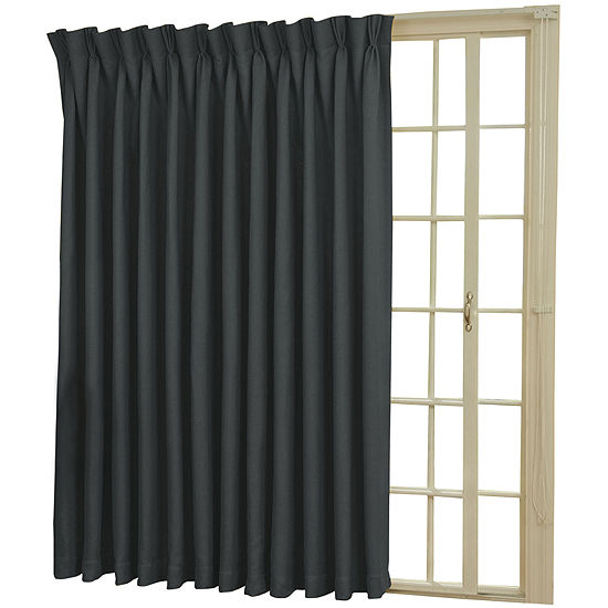 EclipseR Back Tab Pinch Pleat Thermal Blackout Patio Door Curtain Panel