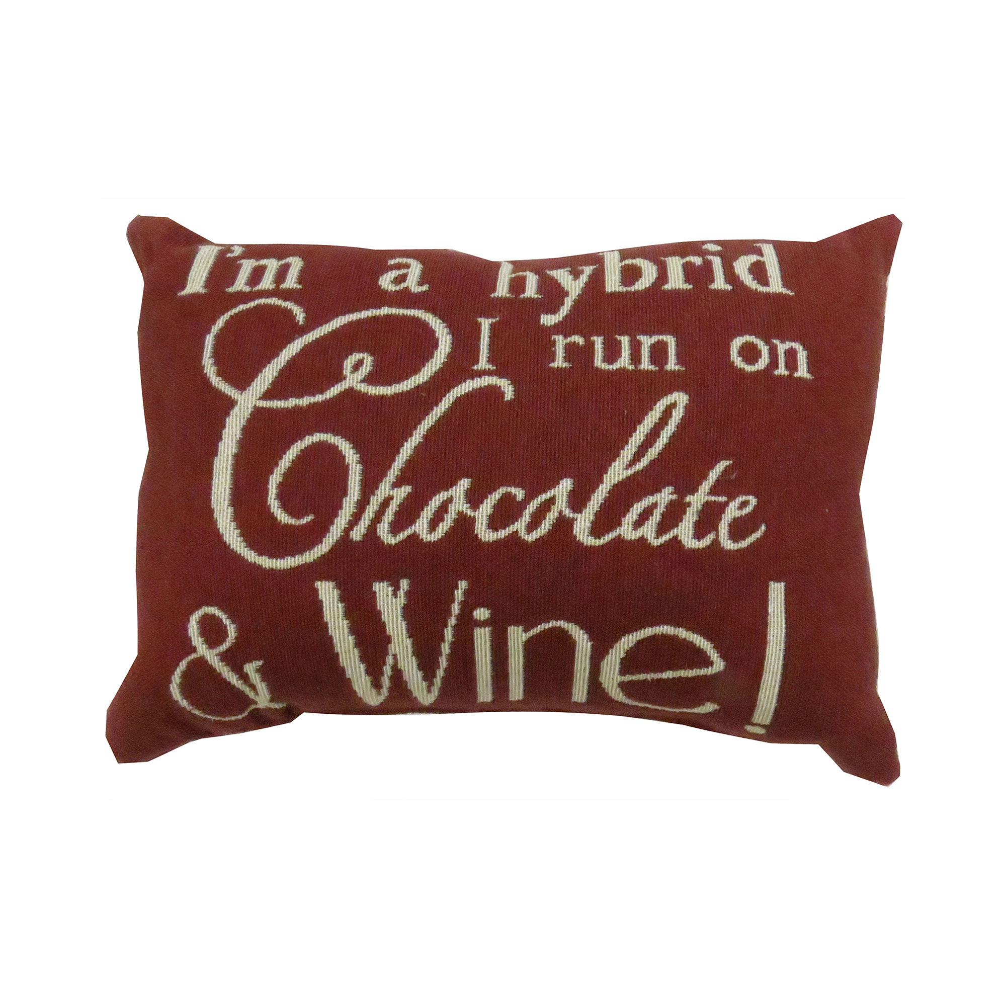 Park B. Smith I Run On Chocolate and Wine Decorative Pillow