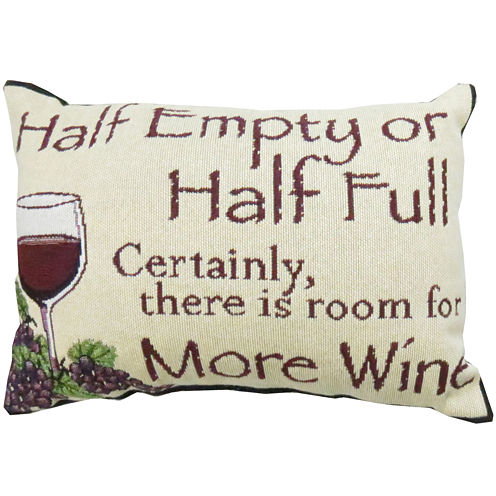 Park B. Smith® Half Empty or Half Full Decorative Pillow