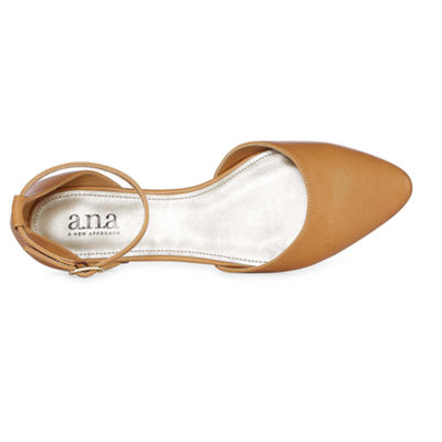 a.n.a Womens Darell Ballet Flats Buckle Closed Toe