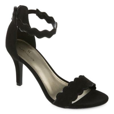 Worthington Womens Cohen Pumps Zip Open Toe Stiletto Heel