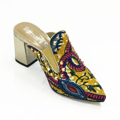 Whittall & Shon Batik Womens Mules Slip-on Soft Toe
