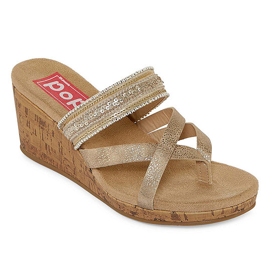 4391d66eb9a5 Pop Womens Hana Wedge Sandals - JCPenney