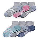Copper Fit 6 Pair Quarter Socks Womens