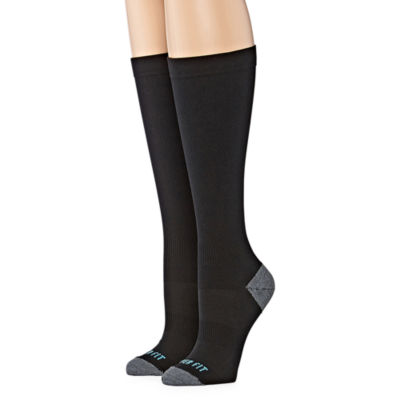 Copper Fit Copper Fit 2 Pair Knee High Socks - Womens