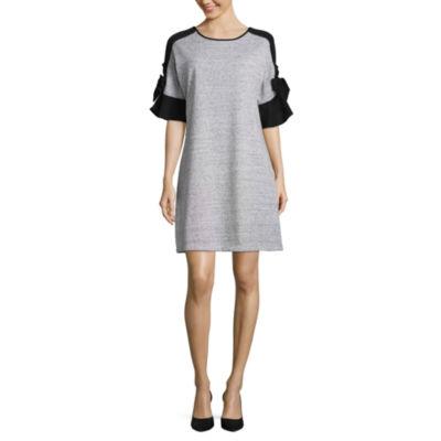 Luxology Bow Sleeve Shift Dress