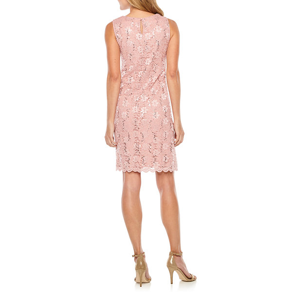 Studio 1 Sleeveless Lace Sheath Dress