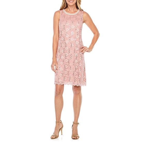 9090f721 Studio 1 Sleeveless Lace Sheath Dress JCPenney