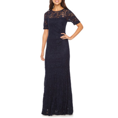One by Eight Short Sleeve Evening Gown
