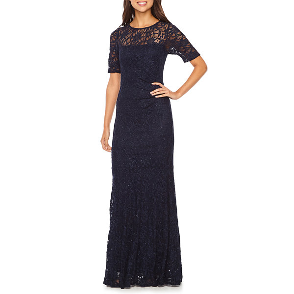 One by Eight Short Sleeve Evening Gown - JCPenney