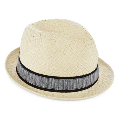 Straw Fedora Hat - Boys 4-20