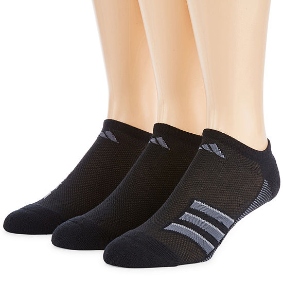 adidas Mens 3 Pair No Show Socks