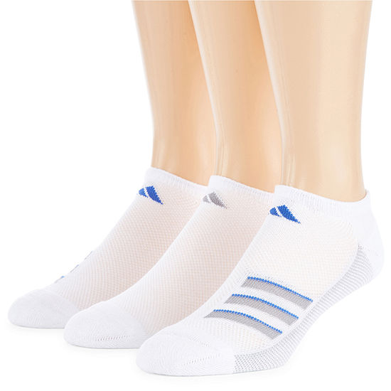 adidas 3 Pair No Show Socks-Mens