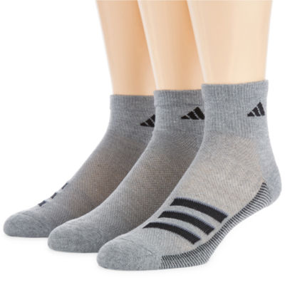 adidas 3 Pair Quarter Socks-Mens