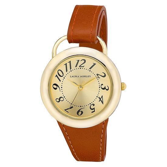 Laura Ashley Womens Brown Strap Watch-La31030yg