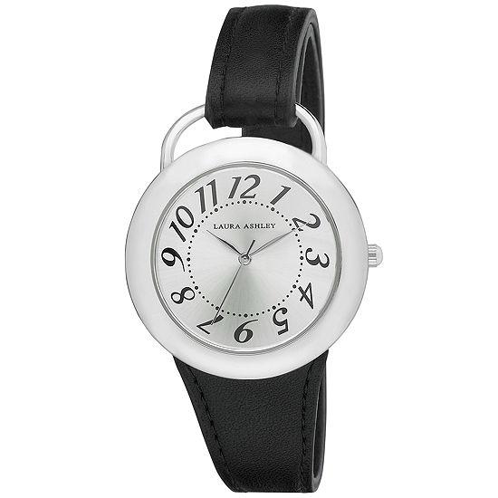 Laura Ashley Womens Black Strap Watch-La31030bk