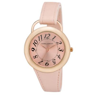 Laura Ashley Womens Pink Strap Watch-La31030pk