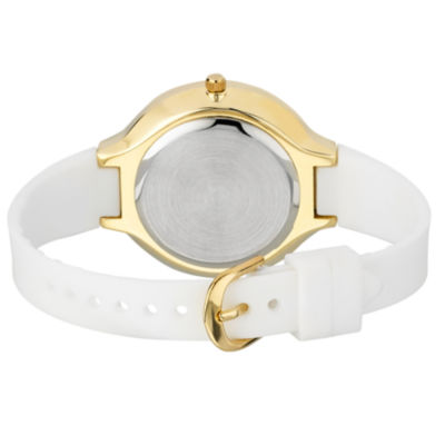 Laura Ashley Womens White Strap Watch-La31031yg