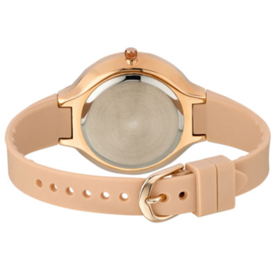 Laura Ashley Womens Rose Goldtone Strap Watch-La31031rg