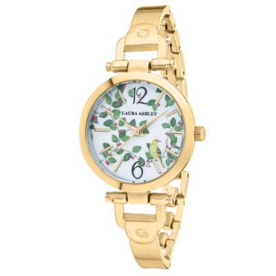 Laura Ashley Womens Gold Tone Bracelet Watch-La31027yg