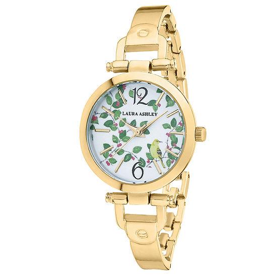 Laura Ashley Womens Gold Tone Bracelet Watch La31027yg