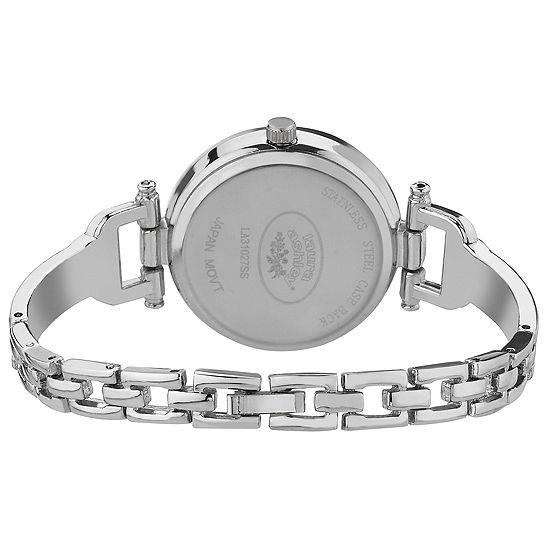 Laura Ashley Womens Silver Tone Bracelet Watch-La31027ss