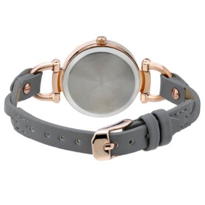 Laura Ashley Womens Gray Strap Watch-La31032rgw