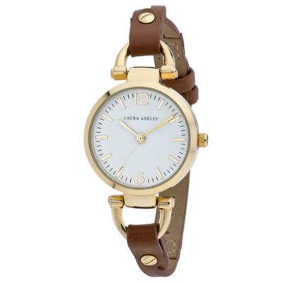 Laura Ashley Womens Brown Strap Watch-La31032tnw