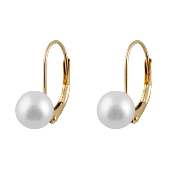 Pearl 14K Gold Drop Earrings