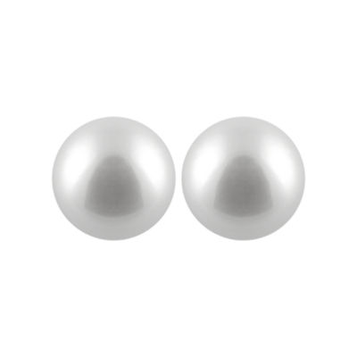 Pearl 14K Gold 10mm Stud Earrings