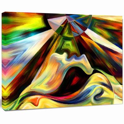 Design Art Origin Of Imagination Abstract Canvas Art Print