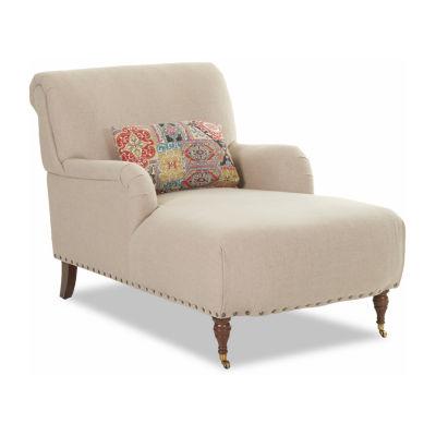 Dale Nailhead Trim Chaise Lounge