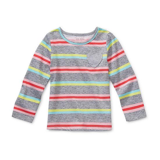 Okie Dokie-Toddler Girls Long Sleeve T-Shirt