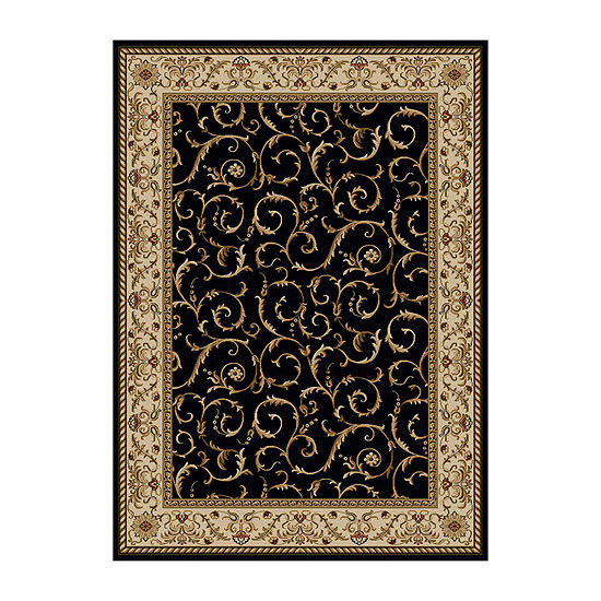 Como Scroll Traditional Oriental Area Rug